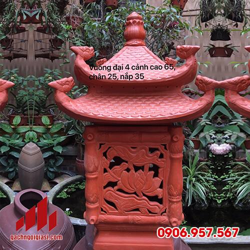 Mâu Đèn Gốm Sân Vườn Vuông