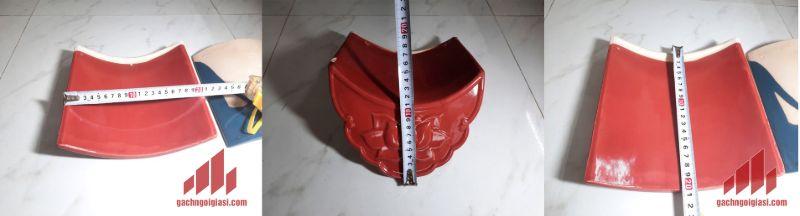 Kích thước Ngói Âm Dương 20x20cm