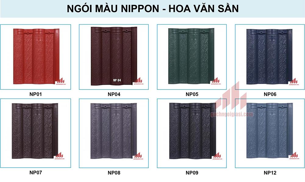 Ngói Màu Nippon hoa văn sần